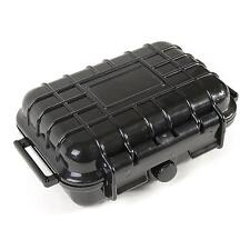 "6"" Mini Weatherproof CIGARRETE MARINE HARD SHELL DRY CASE BOX w/ Rubber Interior"