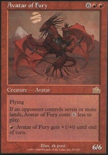 Prophecy LP 4x Avatar of Fury English  x4 MTG Magic PLAYSET