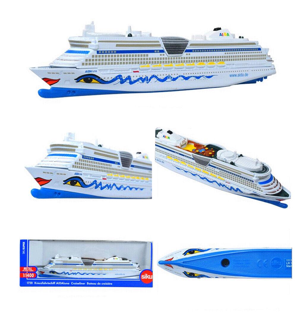 1//1400 Siku German Aida Luxury Cruises 1720 Model 18cm Plastic Boat Ship Toy