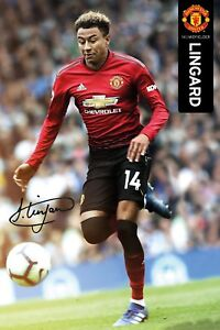"""JESSE LINGARD MANCHESTER UNITED POSTER 24'X36"""" OFFICIALLY LICENSED"""