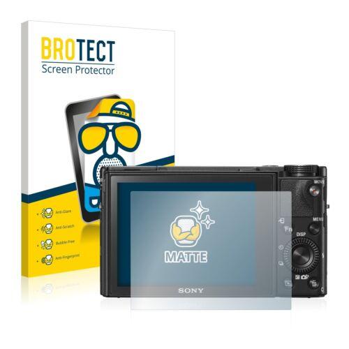2x Protector Pantalla Mate para Sony Cyber-Shot DSC-RX100 V Película Protectora