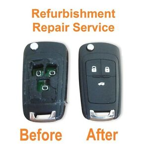 For Vauxhall Opel Insignia Astra 3 button remote key Repair Refurbish Service