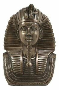 Ebros Small Golden Cobra and Vulture Nemes Mask of Pharaoh Statue Egyptian Dynasty King TUT Bust Figurine with Hieroglyphs 4.25 H Gods and Goddesses of Egypt