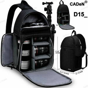D15-Waterproof-Sling-Camera-Bag-Backpack-For-Canon-Nikon-1Camera-3-Lenses-Tripod