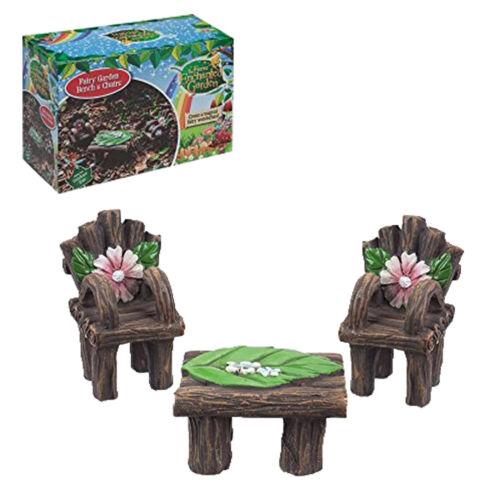 Fairy Table /& Chairs The Fairies Enchanted Garden Range