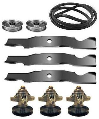 "Cub Cadet SLTX1050 50/"" Mower Deck Parts Kit Spindles Blades Belt FREE Shipping"