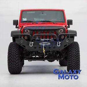 HD-Full-Width-Rock-Crawler-Front-Bumper-Winch-Plate-fit-07-18-Jeep-JK-Wrangle