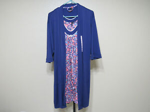 c3bc6cc86d NW OT Kensie Womens Chemise   Robe Set-Color-Navy-Size-Small-(6-8 ...
