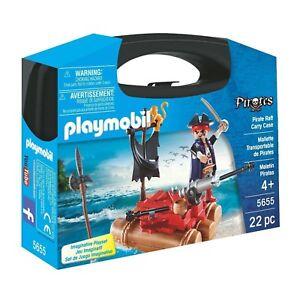Playmobil-Piratas-Pirate-balsa-Estuche-edificio-Set-5655-Nuevo-Educativo
