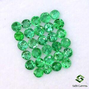 Natural Emerald Round Cut 1.75 mm Lot 100 Pcs Calibrated Loose Gemstones
