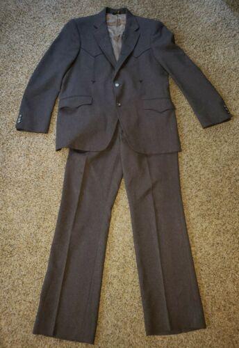 Vintage Men's Mesquite Niver Western Wear Suit Bro