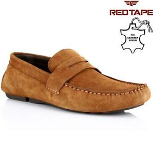 7cb31129d4851e Details about Mens Red Tape Leather Slip On Casual Mocassin Designer Loafer  Driving Shoe Size