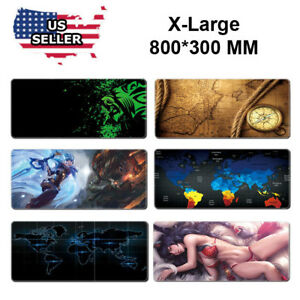 Extended-Gaming-Mouse-Pad-Extra-Large-Size-Desk-Keyboard-Mat-800MM-X-300MM