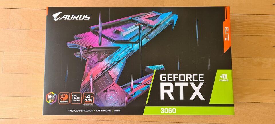 RTX 3060 AORUS ELITE Gigabyte, 12 GB RAM, Perfekt