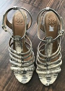 Tory-Burch-Snakeskin-Print-Strappy-Heels-Shoes-Sandals-Sz-9-5