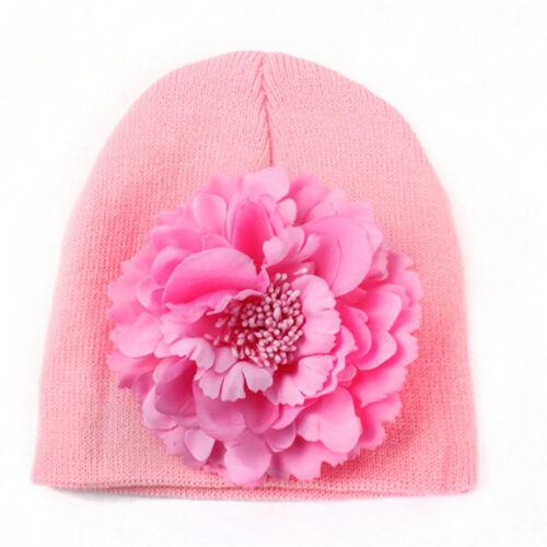 Enfant Fille /& Garçon Bébé Enfant Hiver Chaud Crochet Bonnet Beanie Floral Cap