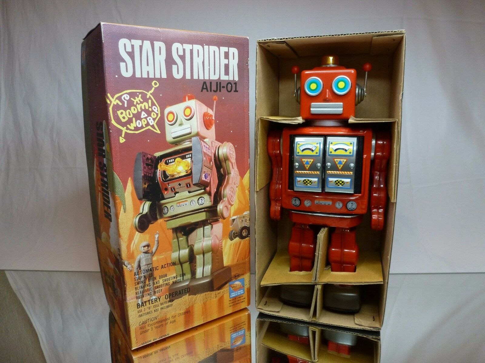 HORIKAWA SH AIJI-01 ROBOT STAR STAR STAR STRIDER - Rojo L31.0cm BATTERY - EXCELLENT IN BOX 9bd3c9