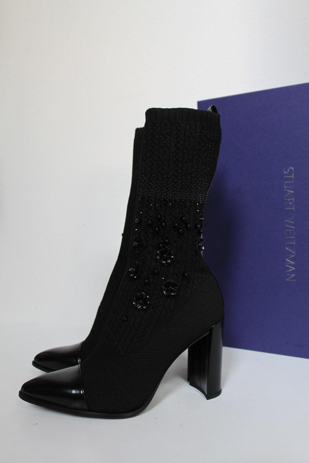 New sz 9 Stuart Mid-Calf Weitzman Sockhop Knit Glove Mid-Calf Stuart Pointed toe Bootie schuhes a0bec9