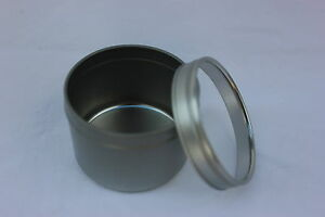 4oz-Round-Deep-Tin-Containers-Clear-Top-Lids-12-NEW-Candles-Spices-Beads