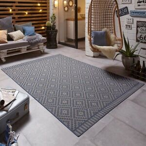 Detalles De Diseño Interior Alfombra Breeze Azul Para Terraza Balcón Jardín