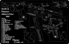 Smith & Wesson M&P Armorers Gun Cleaning Bench Mat Exploded View Schematic NEW