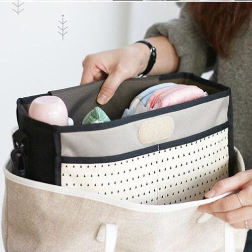 Baby Strollers Storage Bag Organizer Pushchair Basket Canvas Pushchair Cup Bag G