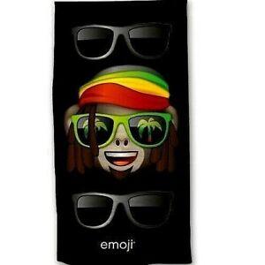 Drap-de-plage-ou-drap-de-bain-Emoji-Rasta