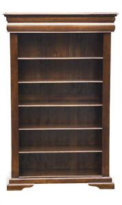 Bookcases Home & Garden Bookcase Open Five Shelf And Recessed Drawer Versailles Adjustable Shelves 100% Original