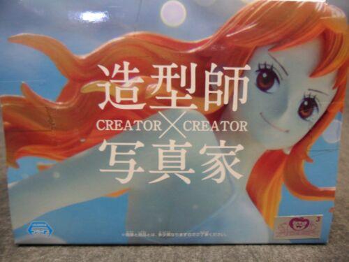 Banpresto One Piece NEW Creator x Creator Statue Anime Nami White Bikini