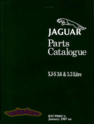 JAGUAR XJS PARTS MANUAL REPAIR SHOP CATALOG BOOK XJ-S 3.6 5.3 V12