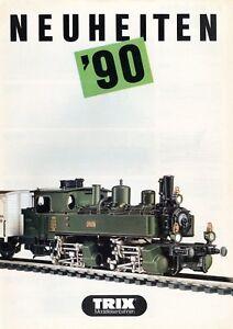 Trix-Minitrix-Neuheiten-1990-Prospekt-Modellbahnprospekt-brochure-model-railway