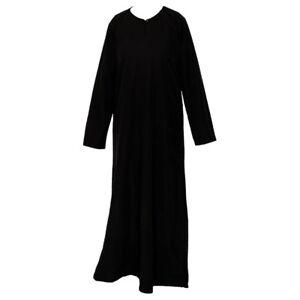Plain-Black-Abaya-Burka-Jilbab-Modest-Maxi-Dress-Nidah-Material-Soft