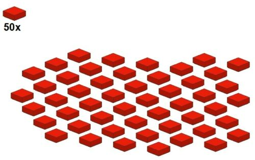 - piastrella-Rosso 50stk LEGO ® 3070b-01-1x1 Smooth Parts-RED