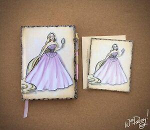 2011-Disney-Designer-Princess-RAPUNZEL-Journal-amp-Note-Card-Steve-Thompson-Art