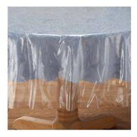 Abwischbare Abwaschbare Tischdecke Transparent Rund Oder Eckig Kratzschutz Tisch