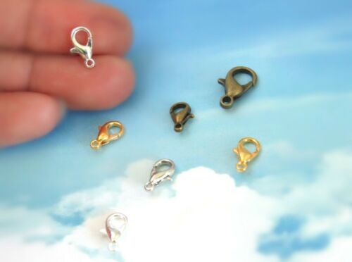 10//50//100 Lobster Claw Clasps 12 mm// Nickel Free Jewelry Making Metal Clasp