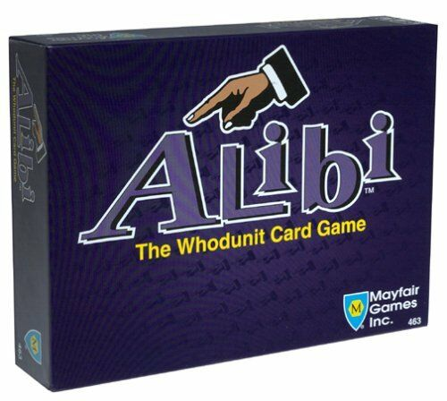 ALIBI THE WHODUNIT CARD GAME SEALED MAYFAIR GAMES
