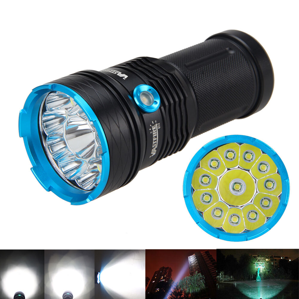 VASTFIRE 30000lm 12 XM-L XM-L XM-L T6 LED Tactical Flashlight Torch 4X18650 Light Charger c7f48c