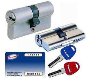 Cilindro Sagomato Potent Secur S34 Mm.90d (35+55) 5 Chiavi+cantiere Sicurezza Detkk7mf-07220722-637256630