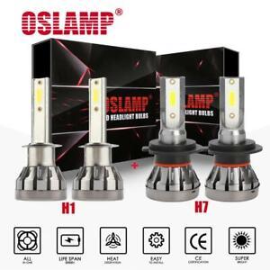 H7 Combo LED Headlight Bulbs Low Beam 3000W 450000LM 6000K Fog Kit 4x Mini H7