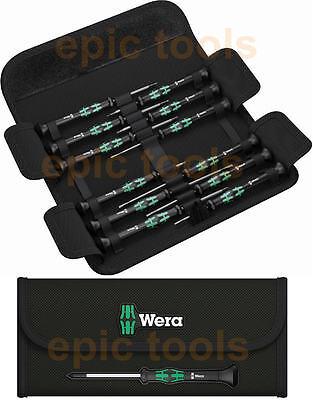 WERA 12 Piece Kraftform Micro Precision,Slot,Hex,Torx,Ph Screwdriver Set 073675