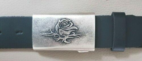 UMJUBELT silber Gürtelschnalle Gürtelschließe Buckle Rose Love 7x4cm