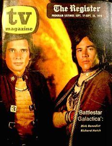 TV-Guide-1978-Regional-Battlestar-Galactica-Richard-Hatch-Dirk-Benedict-VTG-Rare