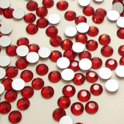 SS8 pedrería cristales de cristal de reverso plano Arte en Uñas Cristal Transparente 2880ps 2.3mm