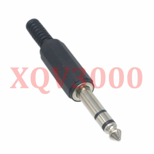 10pcs Connector 6.35mm stereo TRS male plug pin for Audio Video