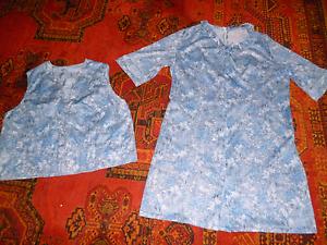 Damen Kleid Zweiteilig Gr 50 Besteht Aus Kleid Und Eine Weste Gebraucht Aber Top Ebay
