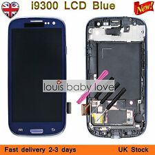 For Samsung Galaxy S3 i9300 LCD Display Touch Screen Digitizer + Frame Blue  UK