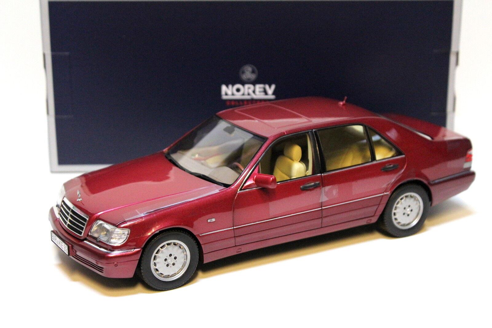 1 1 1 18 Norev Mercedes S-Klasse S500 W140 red NEW bei PREMIUM-MODELCARS 7c77e6