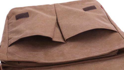 Men/'s Retro Canvas Multifunction Travel Casual Cross Body Shoulder Bag Vincenza