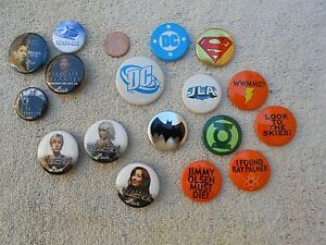 SDCC-Exclusive-Lot-of-17-Button-Pinback-Promo-Pins-Stargate-DC-Galactica